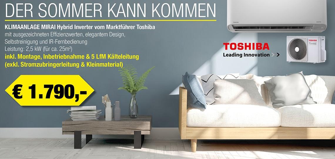 Toshiba Klimaanlagen mit Montage und IBN
