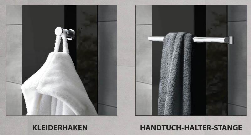 Kleiderhaken und Handtuchhalter Eyebeam Electric System Infrarotheizung