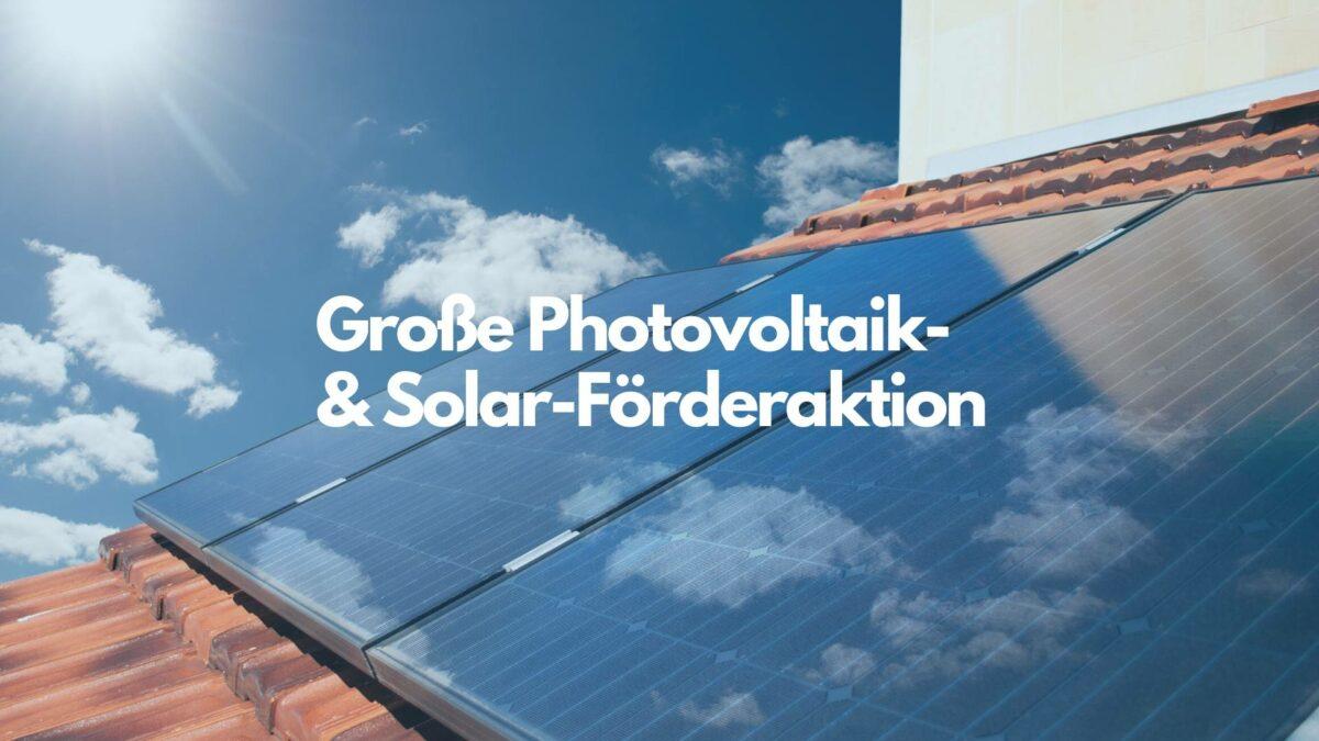 Startschuss der Photovoltaik-Kleinanlagenförderung