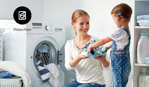 Waschen mit entkalktem Wasser